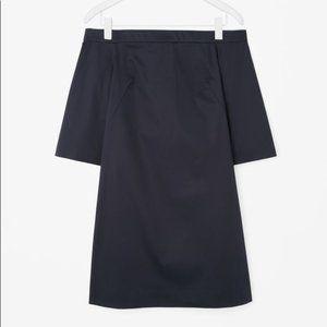 COS Cotton Off The Shoulder Mini Dress OTS 10 L